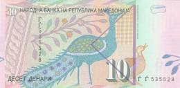 MACEDONIA 10 DINARO (2) -UNC - Macedonia