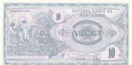 MACEDONIA 10 DINARO -UNC - Macedonia