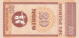 MONGOLIA 20 MONGO -UNC - Mongolia