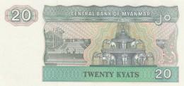 MYANMAR 20 KYATS -UNC - Myanmar