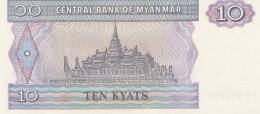 MYANMAR 10 KYATS -UNC - Myanmar