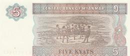 MYANMAR 5 KYATS -UNC - Myanmar