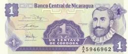 NICARAGUA 1 CENTAVOS -UNC - Nicaragua