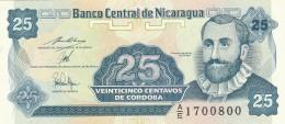 NICARAGUA 25 CENTAVOS -UNC - Nicaragua