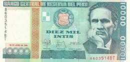PERU' 10000 INTIS -UNC - Perú