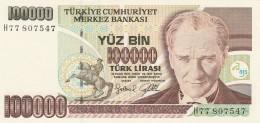 TURCHIA 100000 LIRAS -UNC - Turchia