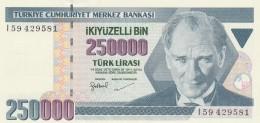 TURCHIA 250000 LIRAS -UNC - Turquie