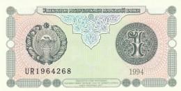 UZBEKISTAN 1 SOM -UNC - Uzbekistan