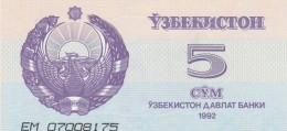UZBEKISTAN 5 SOM -UNC - Uzbekistan
