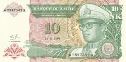 ZAIRE 10 MAKUTA -UNC - Zaire