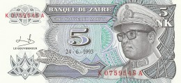 ZAIRE 5 MAKUTA -UNC - Zaire
