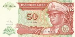 ZAIRE 50 MAKUTA -UNC - Zaire