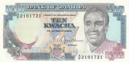 ZAMBIA 10 KWACHA (2) -UNC - Zambia