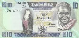 ZAMBIA 10 KWACHA -UNC - Zambia