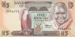 ZAMBIA 5 KWACHA -UNC - Zambia