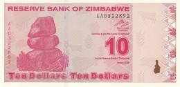 ZIMBAWE 10 DOLLARS -UNC - Zimbabwe
