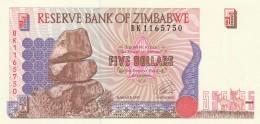 ZIMBAWE 5 DOLLARS -UNC - Zimbabwe