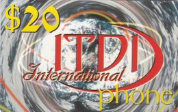 Palestine, PL-PRE-IDT-0001, ITDI International Phone, $20, Unused, 2 Scans . - Palestina