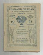Publicité , Fernand NATHAN , Offres De Spécimens, 1921, 32 Pages , 5 Scans , Frais Fr : 1.95 E - Advertising
