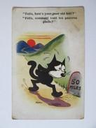 Rare! Felix The Cat Used Postcard 1935 - Autres
