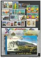 SAN MARINO - 2000 - Annata Completa - 27 Valori + 2 BF + 1 Libretto - Year Complete ** MNH/VF - Annate Complete