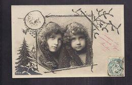CPA Très Joli Portrait Photo Reutlinger Enfant Fillette Sous La Neige - Pretty Girl - Paillettes - Portraits