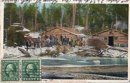 Cpa A Famous Wisconsin Industry ( Logging Industry Lumberjacks & Camp ) - Etats-Unis