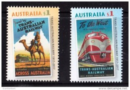 Australia 2017 Trans - Australian Railway Set Of 2 MNH - 2010-... Elizabeth II