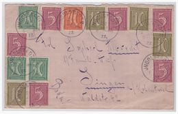Dt- Reich (004761) Brief Bunffrankatur Gelaufen Von Ingolstadt Nach Singen Am 26.1.1922 - Germania