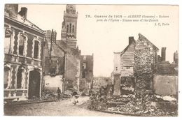 Albert - Ruines Près De L'église - Guerre 1914-18 - WW1 - Albert