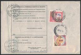 XB82     Bollettino Pacchi Con Alti Valori £.1500 E Castelli Da Orvieto A Milano 1985 - 6. 1946-.. Repubblica