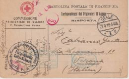 1918 CELLELAGER Manoscritto Su Cartolina Prigionieri Guerra Da Italiano Prigioniero Celle (22.4) - 1900-44 Vittorio Emanuele III