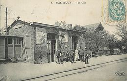 A-17.9432 : WALINCOURT. GARE. LIGNE DE CHEMIN DE FER. - Frankrijk