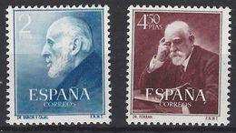 España 1119/1120 ** Cajal Y Ferrán. 1952 - 1931-Hoy: 2ª República - ... Juan Carlos I