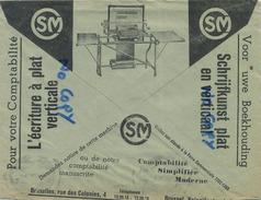 Old Envelope With Publicité: Typewriters SM Comptabilité-boekhouding écriture-schrijfkunst 1934 ( 2 Scan ) - Entiers Postaux