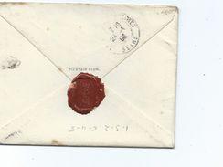 CHINE INDOCHINE Lettre Jan/fev 1908 TienTsin Club Avec Cachet De Cire En Chinois 3 Scans Via Sibérie - Militaria