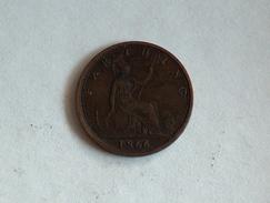 UK 1 FARTHING 1866 ONE GRANDE BRETAGNE - B. 1 Farthing