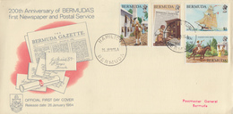 Enveloppe  1er  Jour   BERMUDES   Bicentenaire  Du  1er  Journal   Et  Du  Service  Postal    1984 - Bermudes