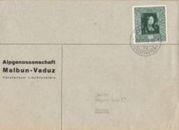 """Liechtenstein 1949: Leonardo Da Vinci """"Ginevra Benci"""" Zu 217 Mi 268 Yv 232 Mit O VADUZ 23.IX.49 (Zu CHF 2.00) - Liechtenstein"""