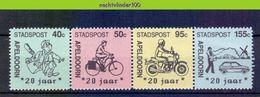 Mcx108 STADSPOST FIETS MOLEN MOTOR AUTO POST CAR BICYCLE MILL LOCAL POST APELDOORN NEDERLAND 1989 PF/MNH - Transportmiddelen