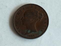 UK 1/2 PENNY 1838 HALF GRANDE BRETAGNE - 1816-1901 : Frappes XIX° S.