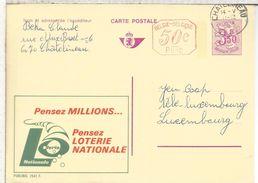 BELGICA PUBLIBEL ENTERO POSTAL 2541F LOTERIA NACIONAL LOTTERY LOTERIE - Juegos