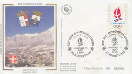 Enveloppe  FDC  1er   Jour   Jeux  Olympiques  D' ALBERTVILLE   1992 - Invierno 1992: Albertville