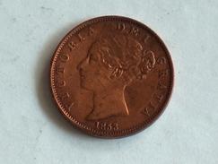 UK 1/2 PENNY 1853 HALF GRANDE BRETAGNE - 1816-1901 : Frappes XIX° S.