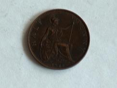 UK 1/2 PENNY 1895 HALF GRANDE BRETAGNE - 1816-1901 : Frappes XIX° S.