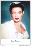 GENE TIERNEY - Film Star Pin Up - Publisher Swiftsure Postcards 2000 - Postales
