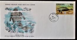 GHANA,  WWF, Yvert N° 592 FDC, Enveloppe Premier Jour - FDC