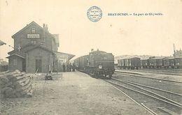 A-17.9493 : BRAY DUNES. LIGNE DE CHEMIN DE FER. TRAIN. LA GARE DE GHYVELDE - Bray-Dunes