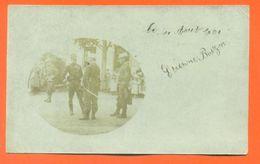 """CPA Carte Photo Remiremont """" Officiers Militaires """" 2 Scans - LJCP 50 B - Remiremont"""