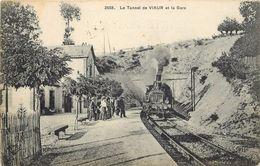 LE TUNNEL DE VIAUR Et La Gare (ELD éditeur) - Stations With Trains
